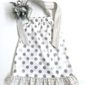 Sizes  4 'Silver Spots' Party Dress