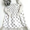 Sizes  4 'Silver Spots' Party Dress