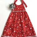 Size 6 - 'Silver Stars' Christmas Dress