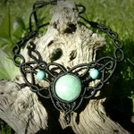 """Serene"" Aventurine and Turquoise Macrame Necklace