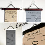 Growscroll ® Growth Chart / Height Chart - Modern - CUSTOM