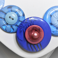 Blue and Pink button necklace - Blueberry Ripple