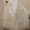 Ivory Lace Lime Green Chiffon Wedding Dress Set ~ Plus Size 4XL