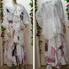 Bohemian Fairytale Patchwork Wedding  Set ~ Size 3XL ~ Ivory & Pink