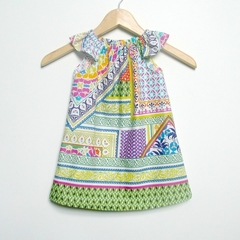Baby Girl Clothing, Dress, boho, moroccan colorful bright Sizes 1, 2, 3