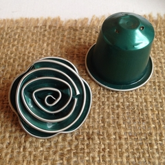 Brooch - Up-cycled aluminium - Coffee Lovers - Sustainable Jewellery - Green