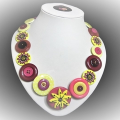 Button necklace -  Daisy Chain