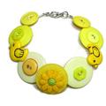 Button Bracelet - Yellow ducks