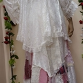 Bohemian Fairytale Patchwork Wedding  Set ~ Size 3XL ~ Ivory & Pink