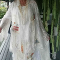 Ivory Cream Lace with Apricot Mother of the Bride or Wedding - Size 14 - 16