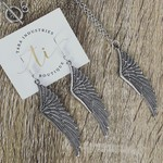 Angel Wing Charm Earring/Necklace Set