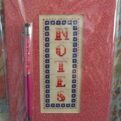 Red Glitter Notebook & Pen