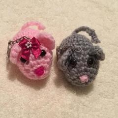 Grey Mouse Bag Buddy/Keyring