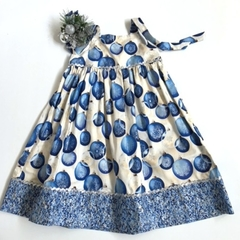 Sizes 4 and 6 - 'Blue Baubles' Christmas Dress