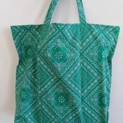 Foldable eco bag / GREEN - Bandana