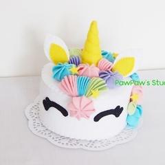 Unicorn-Felt Cake-Home Decor-Fake Cake-Gift-Tea Party