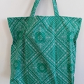 Foldable eco bag / GREEN - Bandana
