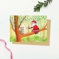 Santa & Australian Animal Christmas Card Set of 6, Santa Claus, Australian Chris