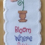 'Bloom Where You Are Planted' Bookmark