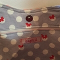 Japanese Flowers Print Shoulder Bag