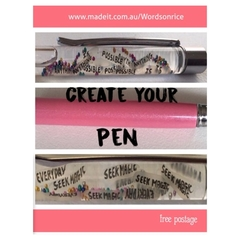 WORDS ON RICE - pen