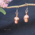 Copper plated gum nut earrings