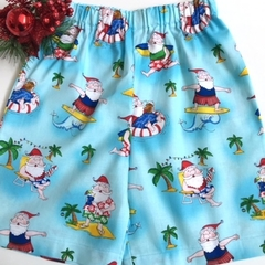 Sizes 3, 4, and 5 - 'Santa Surf's Up' Christmas Shorts