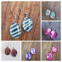 Oval earrings - multiple designs