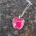 Apple pendants - red and pink