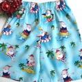 Sizes 3, 4, 5 and 6 - 'Santa Surf's Up' Christmas Shorts