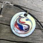 Retro style enamel pendant (unique)
