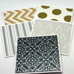 Gift Card Set of 5 - Gold and Silver Shimmer