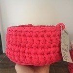 Crochet Basket- Small- Bright Pink