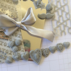 Bulk Colour kit, silver scrapbooking supplies, scrapbook embellies, mixed media