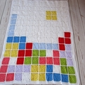 crochet tetris baby blanket | computer geek | colourful unisex baby shower gift