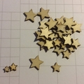 stars wood shapes, wood embellishments, craft shapes, wooden shapes, wood pieces