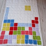 crochet tetris baby blanket | computer geek | colourful unisex baby shower gift