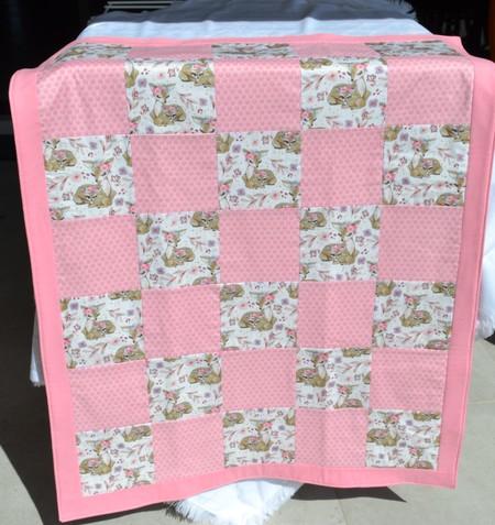 Baby Quilt, Play Mat Deer Design