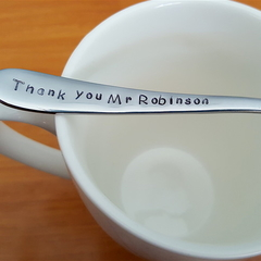Teacher Gift,Teacher Thank you, hand stamped, spoon,custom gift, personalised,