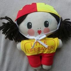 Little Lifesaver doll brunette   Handmade with love