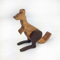 Wooden Kangaroo Figure made from Australian Oak and Jarrah