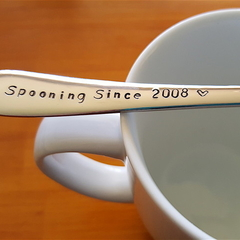 Custom Year  On Spooning Since,Gift,Wedding Anniversary, Husband Gift,Wife Gift