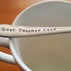 Best Teacher Ever,Teacher Christmas  present,Teacher Thank you,  Spoon,