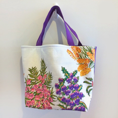 Shopping or general-purpose tote bag – retro Australian native flora print 2