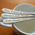 Teacher Gift,Teacher Thank You,Best Teacher,Custom Teacher Gift,Hand Stamped