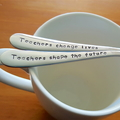 Teacher Gift Set,Teacher Gift,Teacher Thank you, Hand Stamped Spoon,Present