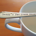 Daddy`s Ice Cream Shovel,Fathers Day, Hand Stamped Spoon,Dad Present