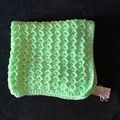 Bright Mint Crystal Wave Baby Blanket