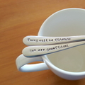 You are beauTEAful, Today will be TEArrificHand Stamped Spoons, Tea pun gift