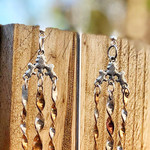 Bonded metal (silver/guilding metal) twist drop earrings